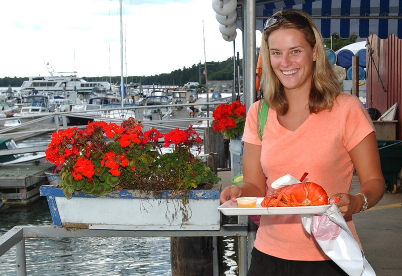 Harraseeket Lunch and Lobster on South Freeport's waterfront is among several dining spots around Casco Bay where boaters can tie up.