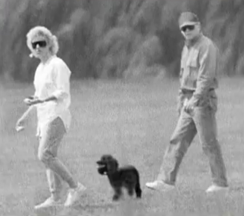 """An image taken from video provided by the FBI shows James """"Whitey"""" Bulger and his longtime girlfriend, Catherine Greig. The video was part of a publicity campaign to locate the fugitive mobster."""