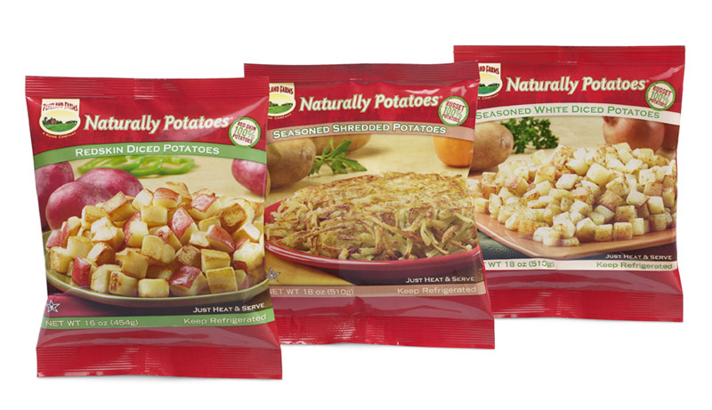 Three heat-and-serve products from Naturally Potatoes in Mars Hill.
