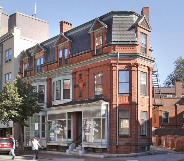 Gallery space and artists' studios had been planned for this building at 660 Congress St. in Portland, but now owner Roxanne Quimby has put it on the market, shifting her artists' colony concept to a building farther down Congress Street.