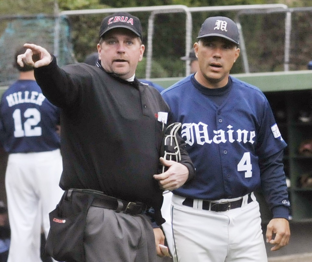 Maine Coach Steve Trimper, right, says his team expects to do well at the NCAA regionals.