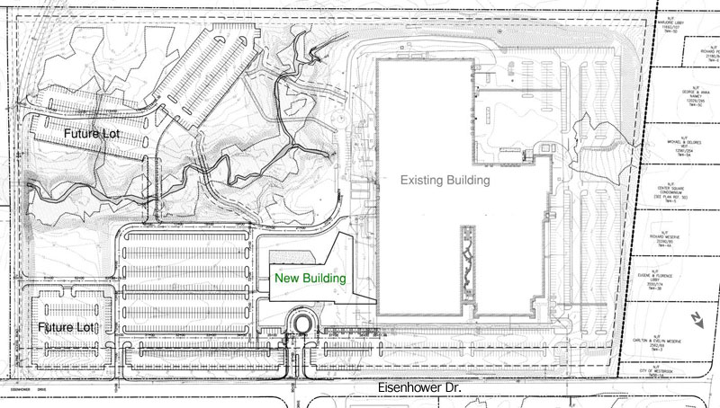 Site plan for Idexx expansion.