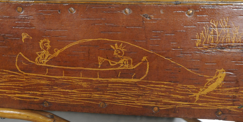 Artwork by Tomah Joseph on display at the Passamaquoddy Cultural Heritage Center & Museum.