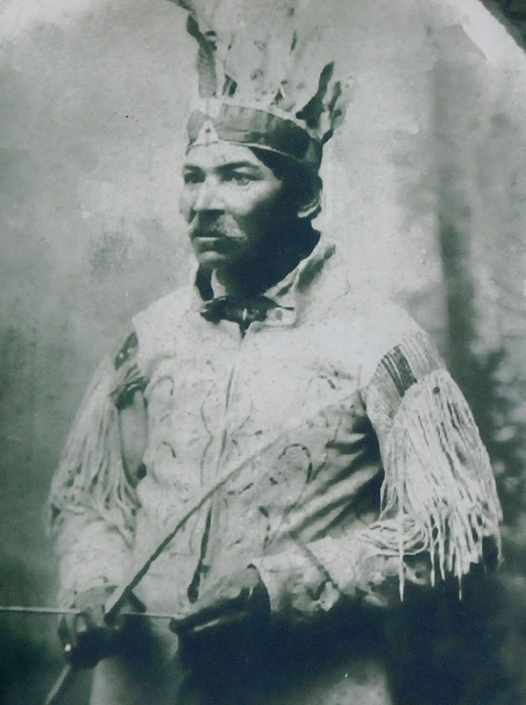 A portrait of Tomah Joseph is on display at the Passamaquoddy Cultural Heritage Center & Museum. Joseph was born in 1837.