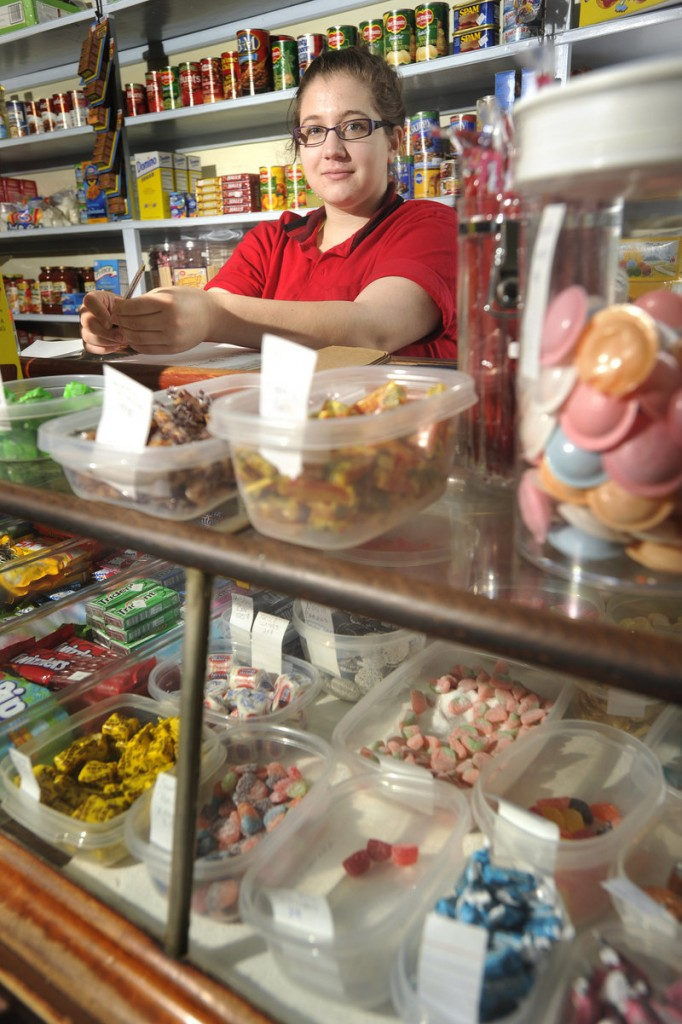 Jennifer Scontras works as a clerk at the Way Way Store, 93 Buxton Road, which was named for its remote location on the outskirts of Saco.
