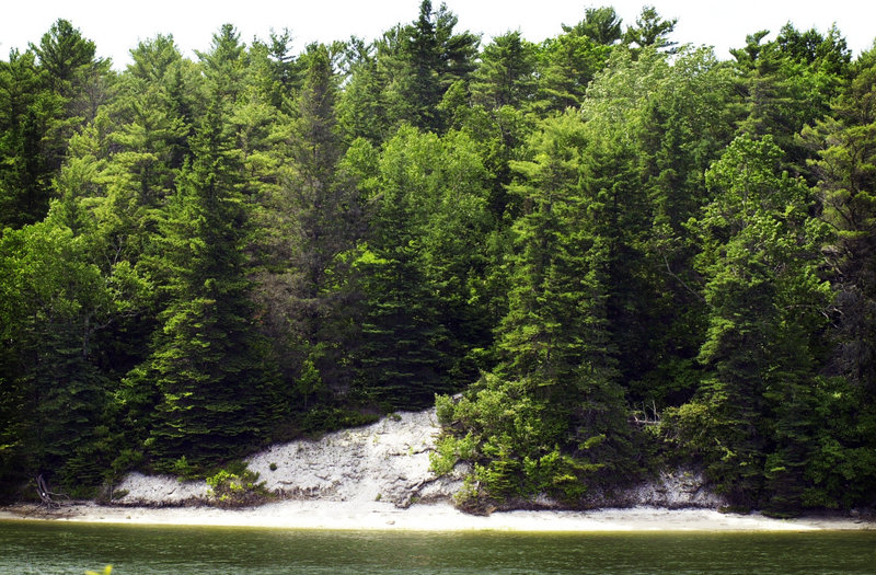 Glidden Point's shell middens on the Damariscotta River can be accessed by a side trail off the Glidden Point and Salt Bay Heritage Trail, a three-mile loop off Route 215 in Newcastle.