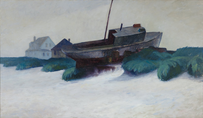 """Maine in Fog,"" oil on canvas, 1926-29"