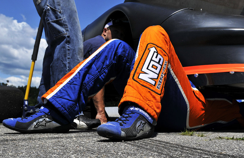 Kyle Busch likes to get personally involved and not leave everything to the crew, so when the chance came Thursday to take a look at his car for the TD Bank 250, he didn't pass up a chance to duck under.