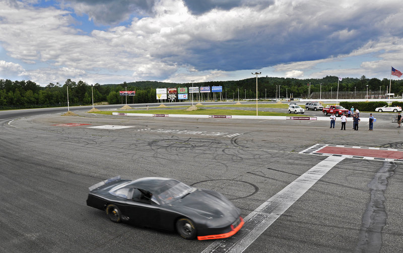 The car that Kyle Busch is planning to pilot across the finish line at Oxford Plains Speedway on July 24 not only has no markings, but it has yet to compete on a track.