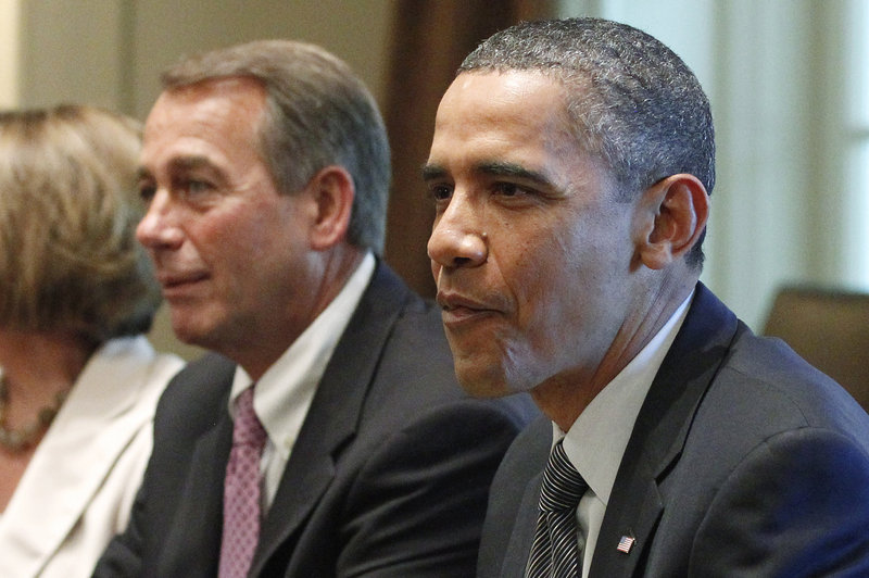 President Obama and Speaker John Boehner discuss the budget.