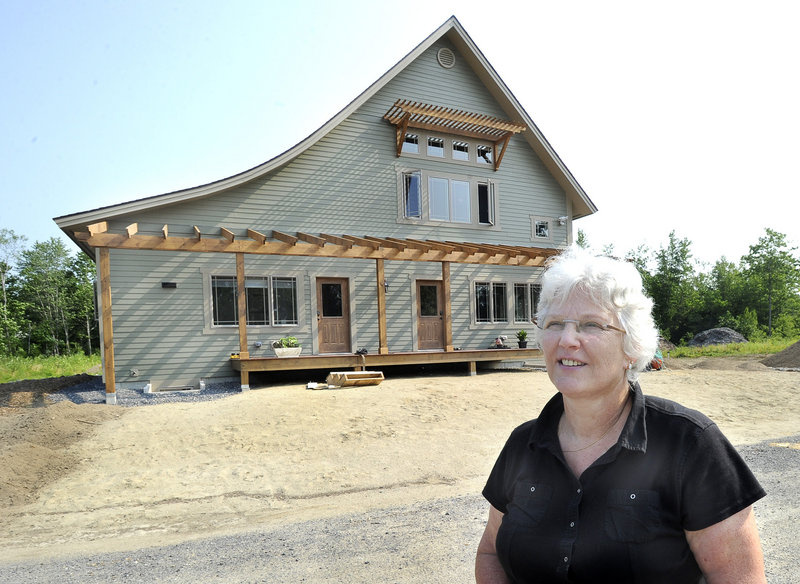 Francoise Paradis, a psychologist with a practice in Saco, is developing Greensward Hamlet, a cohousing project on eight acres in Buxton.