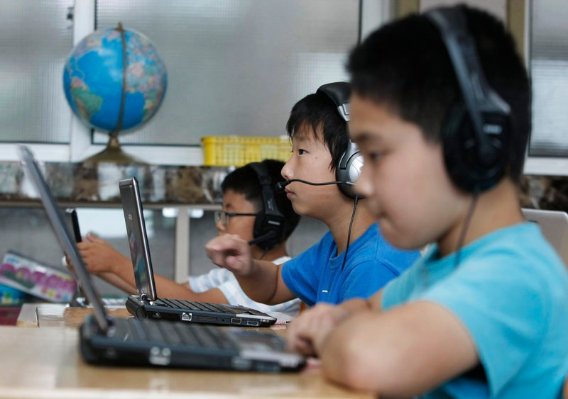 In South Korea, whose kids are considered the world's savviest navigators of the digital universe, the government is spending about $2 billion to equip schools and build a vast digital scholastic network. France, Singapore, Japan and others also are racing to create classrooms where touch-screens provide instant access to millions of pieces of information.