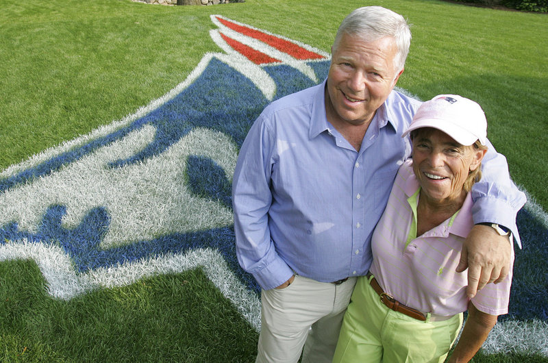 Myra Kraft, 68, died Wednesday after a battle with cancer. She is seen in 2005 with her husband, New England Patriots owner Robert Kraft. Married in 1963 while still a student at Brandeis, she went on to become a highly-respected philanthropic figure.