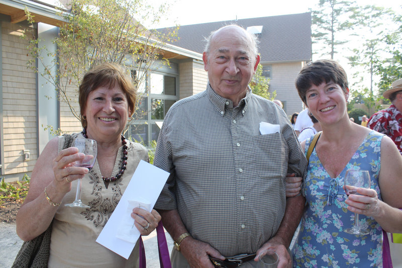 Pat Keating, Bob Keating and Tracey Cahn, who live in New York and summer in Readfield.