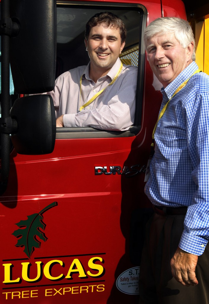 Arthur Batson III and Arthur Batson Jr. are second- and third-generation part owners of Lucas Tree.
