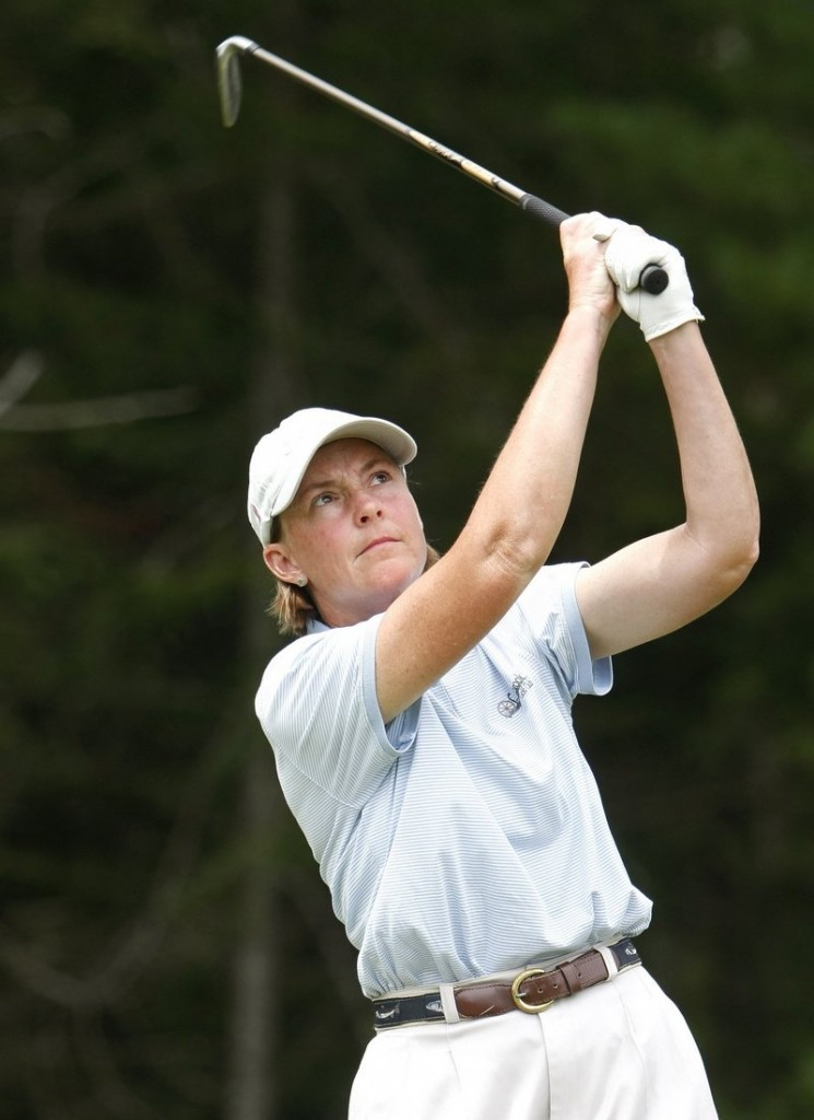 Leslie Guenther will try to add a WMSGA title to her trophy case next month at Penobscot Valley Country Club in Orono.