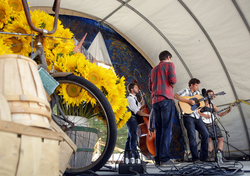 Chasing Blue, a Boston-based bluegrass band, performs Friday at the Ossipee Valley Music Festival in South Hiram.