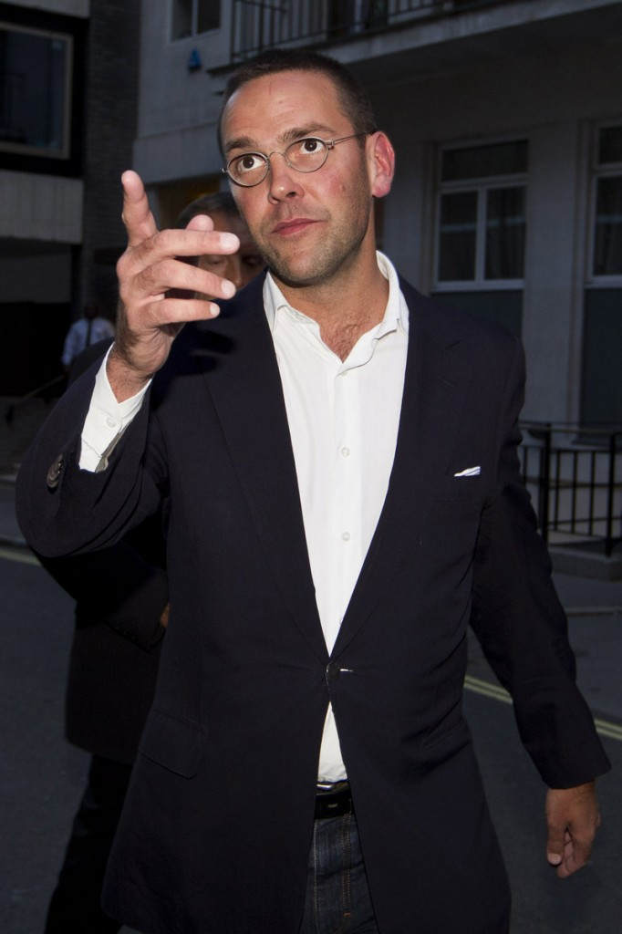 James Murdoch, son of Rupert Murdoch, leaves his father's residence in London on July 10. Questions are being raised about whether he lied to lawmakers.