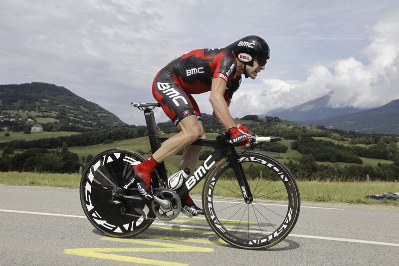 Cadel Evans erased a 57-second deficit to Andy Schleck with a strong performance in a 26-mile time trial Saturday, and now only needs to avoid a catastrophe in today's final stage to win the Tour de France for the first time.