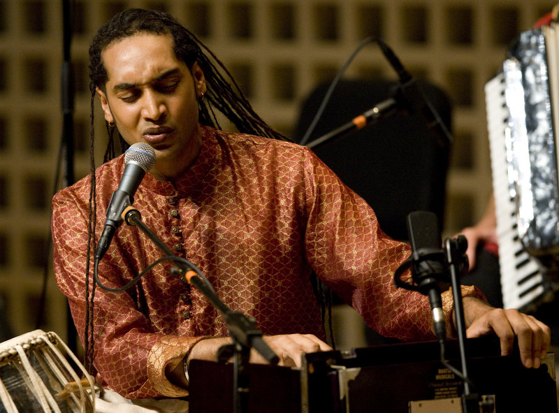 Tabla player Rajesh Bhandari and the other musicians at the Bates Dance Festival will perform original and improvised works Tuesday in Lewiston.
