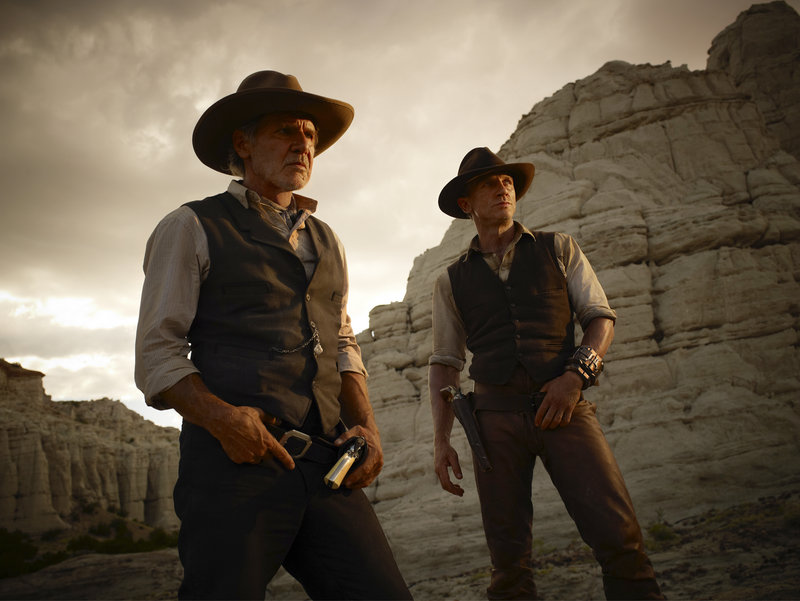 """Harrison Ford, left, and Daniel Craig co-star in """"Cowboys & Aliens."""""""
