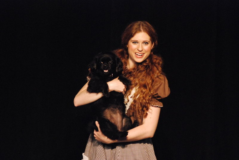 Brittany Morton portrays Dorothy and Daisy plays Toto in