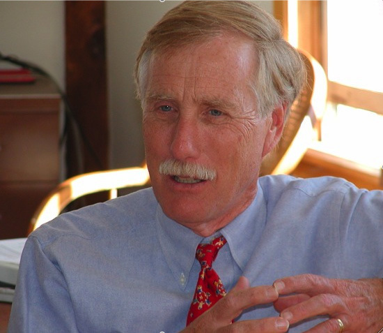 "Former Gov. Angus King, author of ""Governor's Travels: How I Left Politics, Learned to Back Up a Bus, and Found America,"" will give a presentation at the Portland Public Library Friday."