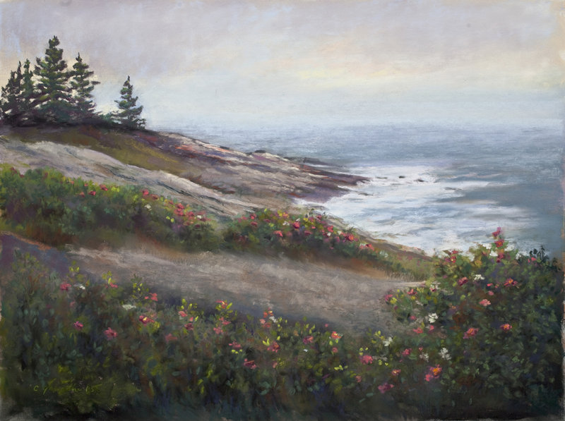 Claudette Gamache pastel works done in Maine.