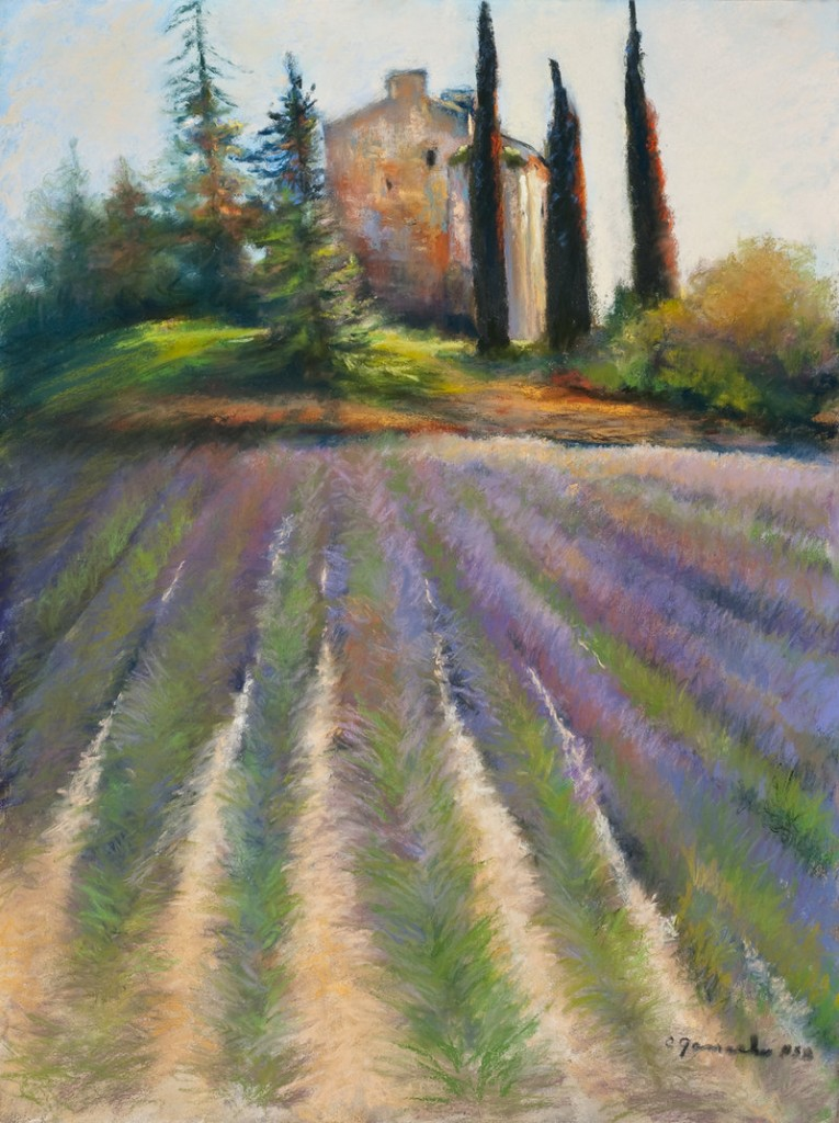 Claudette Gamache pastel works done in France.