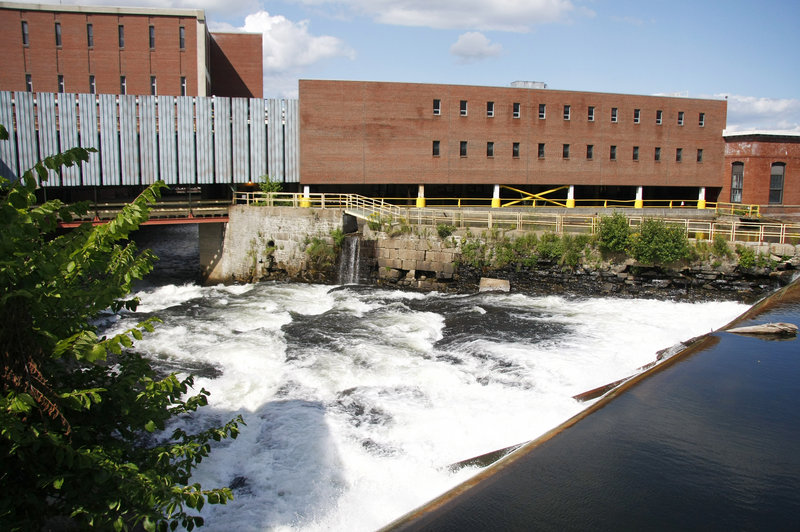 A fish passageway is being built at this section of the Cumberland Mills Dam at the Sappi Fine Paper mill in Westbrook. The two-phase project will take until 2013, but will open the river to fish, allowing them to swim up and over the dam.