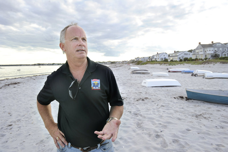 Mic Harris started Save-Our-Beaches to represent the views of those who want to keep Goose Rocks Beach open to unrestricted recreational use by the public. Town officials claim that the beach has been public property since the 1680s and that they have the records to prove it.