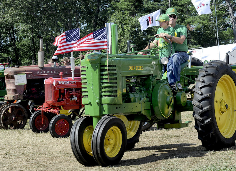 Aspiring farmers get a feel for the land during a barrel tractor ride.