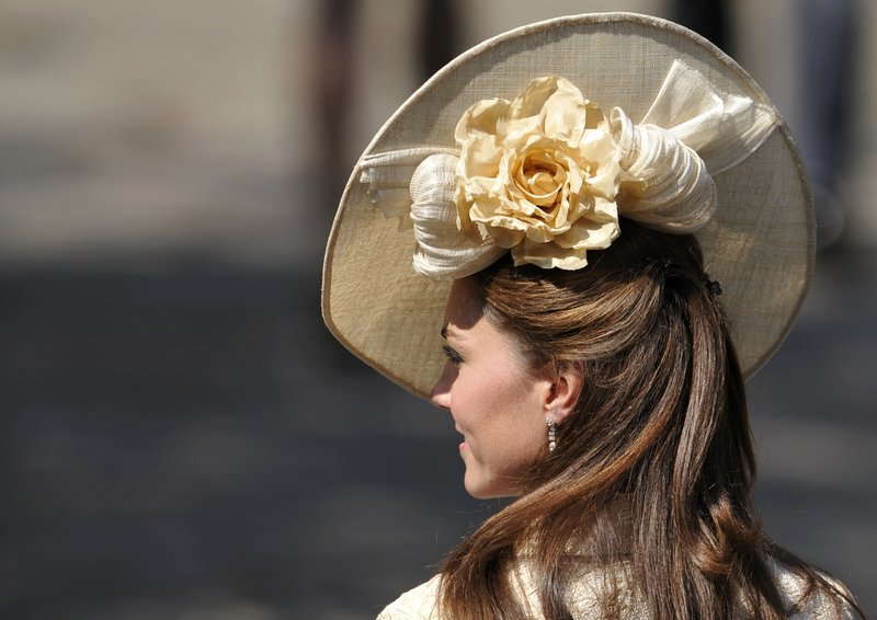 Catherine, Duchess of Cambridge, arrives for the wedding.