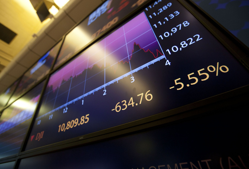 An electronic monitor displays the Dow Jones Industrial Average on the floor of the New York Stock Exchange near the close on Monday. Early in the weekend, President Obama should have offered solid assurances that the nation's fiscal situation was under control, so that the world's markets would not have opened Monday morning without any inkling of what he was thinking.