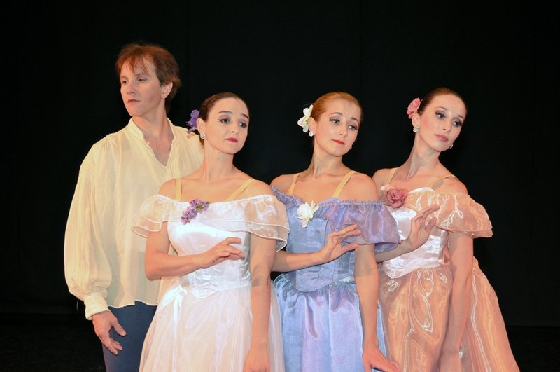Maine State Ballet dancers Glenn Davis, Janet Davis, Elizabeth Dragoni and Kate Hamilton in