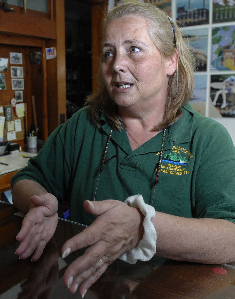 """Marie Walsh, who works at the Seagate Motel in Boothbay Harbor, accepts the Wiscasset traffic jams. """"It's just a fact of life,"""" she says. """"And it's only two months out of the year."""""""