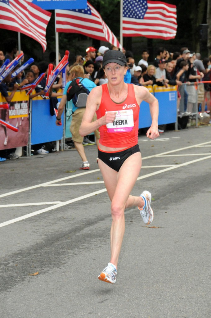 Deena Kastor is testing her fitness level as she prepares for the women's Olympic marathon trials by running Saturday in the TD Bank Beach to Beacon 10K.