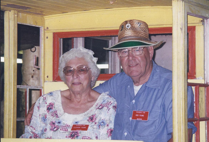 Robert Young and his wife, Eleanor, visit the Fryeburg Fair Museum during its 150th celebration. Nothing topped the love he had for his family, his daughter said.