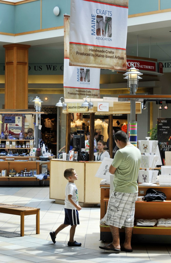 The Creative Common and the nearby Center for Maine Craft store at the mall in South Portland draw shoppers seeking something authentic from Maine.