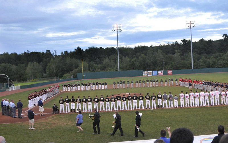 Eight teams, one winner and a berth in the American Legion World Series on the line as the teams lined up Thursday for the opening ceremonies of the Northeast Regional at The Ballpark in Old Orchard Beach.