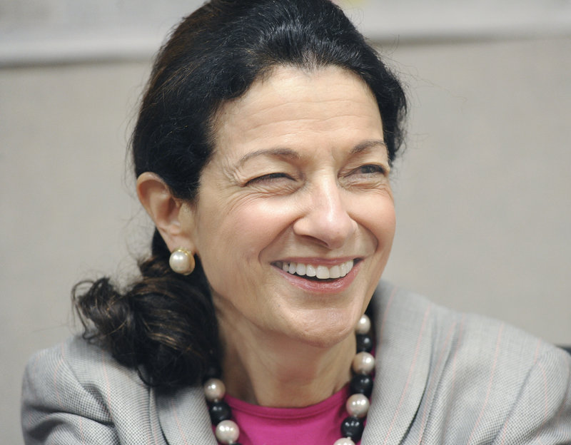 """Sen. Olympia Snowe tells the MaineToday Media editorial board: """"There are fewer and fewer senators who represent a broad, diverse political constituency."""""""