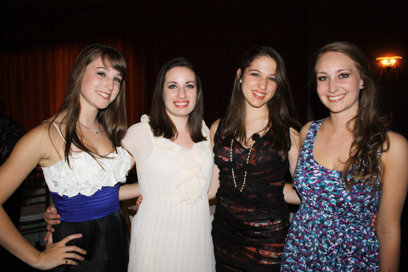 Maine State Ballet dancers Rhiannon Pelletier, Lindsay Stack, Sara Alpert and Hannah Anderson.