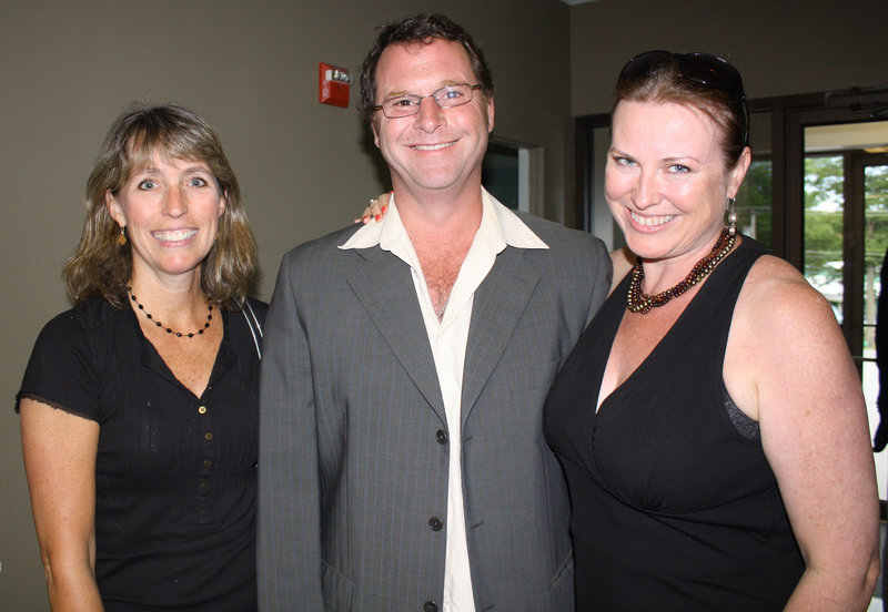 Former Maine State Ballet board member Julie Finn, Michael Dow and current board member Christine Marshall Dow.