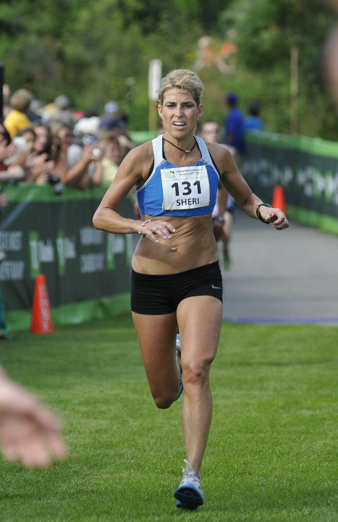 Sheri Piers didn't feel like celebrating her first-place finish among Maine women in the Beach to Beacon 10K.