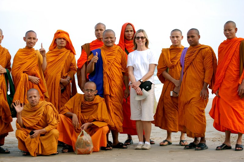 Barbara Adrian, a teacher at Portland and Deering high schools for 10 years, taught conversational English to Buddhist monks in Thailand during a 2008-2009 sabbatical.