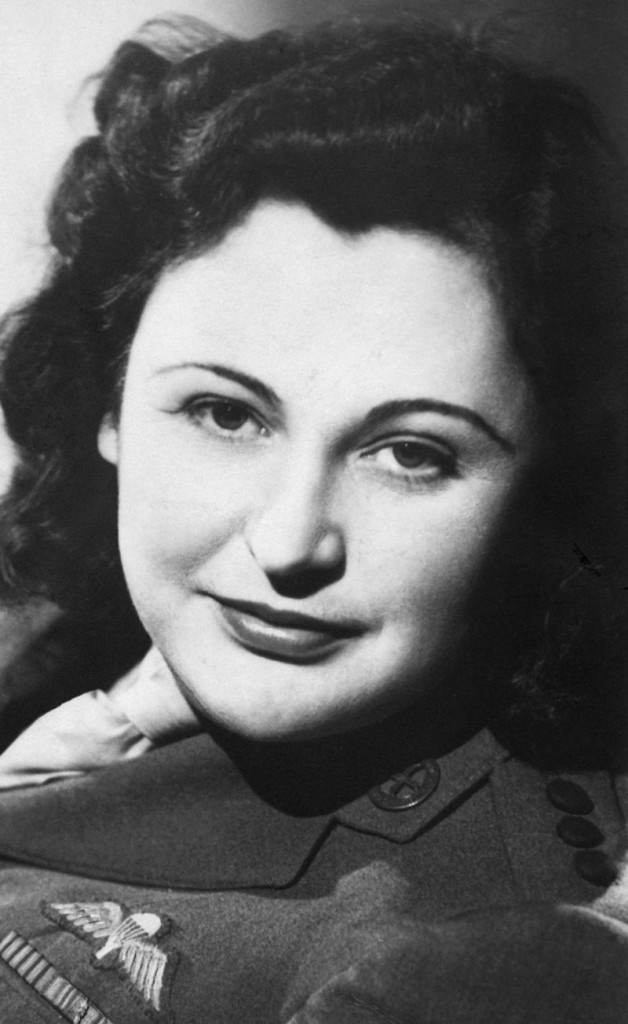Nancy Wake, seen in a photo from 1945, became one the Allies' most decorated servicewomen for her role in the French Resistance during World War II. She died Monday in London at age 98.
