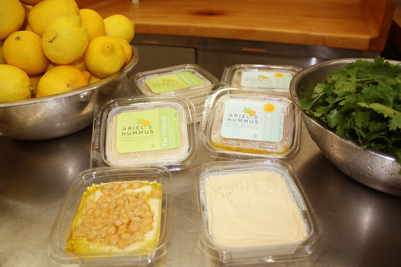The hummus comes in three varieties, two of which are shown here: The Original and The Original with Extra Goodness on Top.