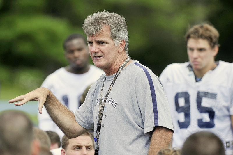 Jack Cosgrove, the University of Maine football coach, has been forced to recruit more and more in larger states, simpy because that's where he can find a larger number of quality players. The flip side is fewer and fewer Maine-bred players are in his program.