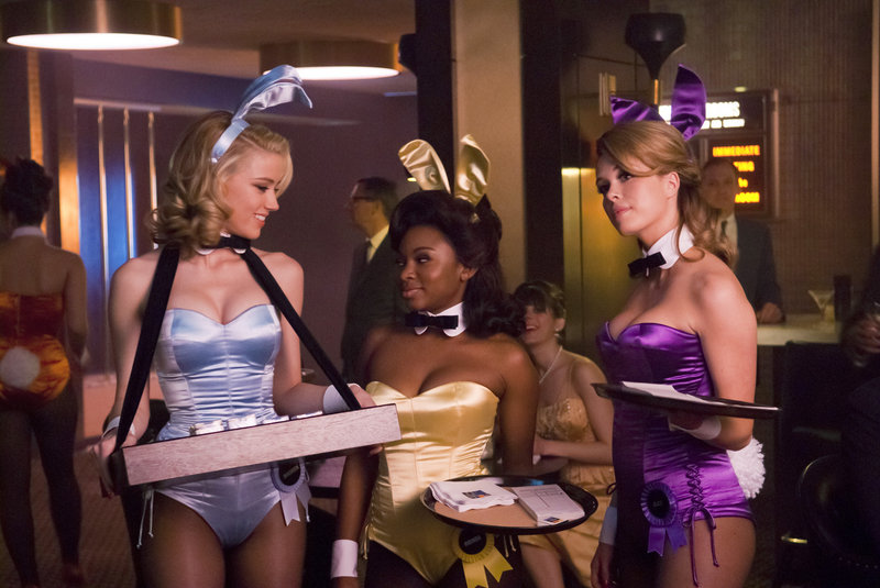 """Amber Heard, Naturi Naughton and Leah Renee, from left, are shown in a scene from """"The Playboy Club,"""" set in the early 1960s."""