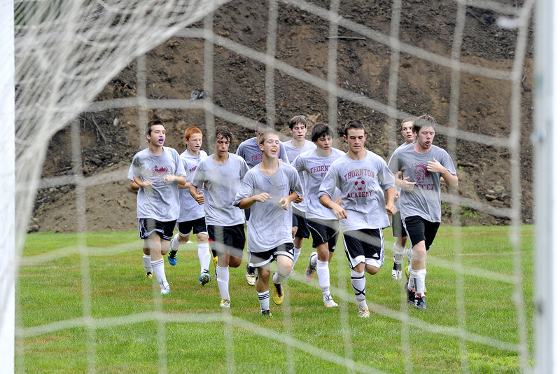 The Thornton Academy boys soccer team gets its preseason training under way Monday, joining other high school fall sports teams across most of Maine in their three weeks of workouts before games and events are held. The Trojans hope to improve on their 2-14 record in 2010.